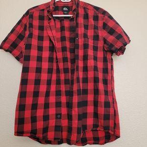 Quicksilver boys plaid shirt (m)